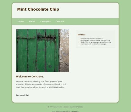 Mint Chocolate Chip Theme Screenshot