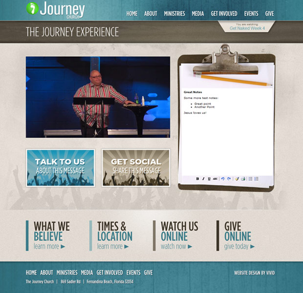 The Journey Family Church - concrete5