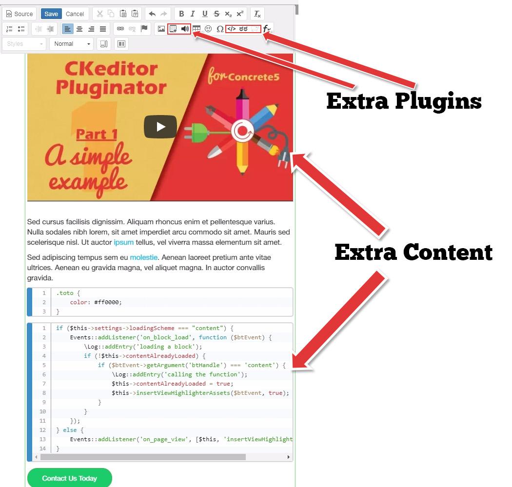 Content Editor Pluginator - concrete5