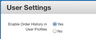 Enable Order History in User Profiles