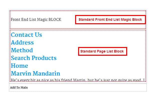 Magic block list