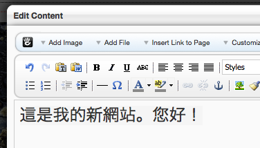 entered Chinese text