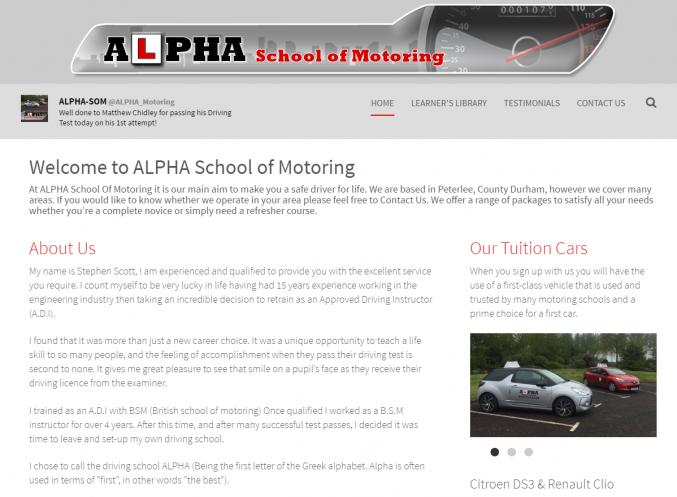 ALPHA School of Motoring - concrete5