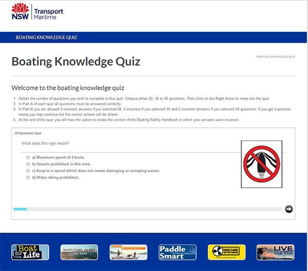 Boating Quiz - concrete5