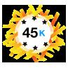 45K Karma - Has at least 45,000 karma points.