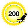 200 Posts - Clearly getting pretty active in the forums.